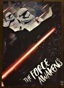 Star Wars Print - Simon Delart - The Force Awakens (S/N/50) - 2016
