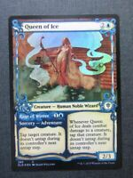 Queen of Ice Foil - Showcase Frame - Eldraine Mtg Cards #13P