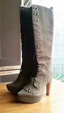 Rodarte X Opening Ceremony collection tall suede boots NIB, one of a kind. Brown