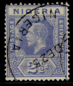 NIGERIA GV SG21, 2½d bright blue, USED. Cat £15.