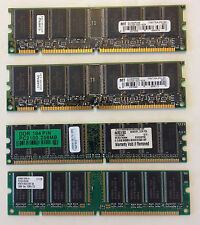 lot of computer memory pulled from working systems.   PC100-PC2100-PC133U