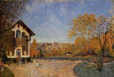 Oil painting Alfred Sisley - View of Marly-le-Roi from House at Coeur-Colant