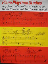 PIANO PLAYTIME STUDIES Very First Studies ed. Fanny Waterman pub. Faber