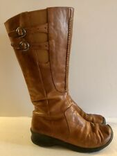 KEEN Bern Baby Bern Brown Tall Leather Waterproof Boots Women's Size 7 Stretch
