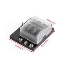 6 Way Circuit Standard ATC ATO Fuse Box For Car Boat Marine Bus Van Waterproof