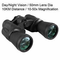 Day/Night 10x50 Military Army Zoom Binoculars Optics Hunting Camping Waterproof