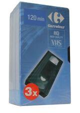 VHS 120 Min HQ Lot 3 Cassettes Video Neuf Scellé (Réf#A-556)