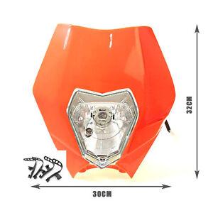 Fit KTM EXC XC MXC 250 450 520 525 530 Orange Dirt Bike Headlight Head Lamp