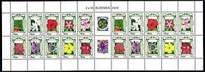 [ARV472] Aruba 2010 Flowers Blumen Fleurs Miniature Sheet MNH
