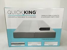 New In Box Quick King Converts 2 Twin Beds to a King Bed