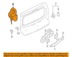 NISSAN OEM 09-14 Cube Cargo Door-Lock 905011FC0B