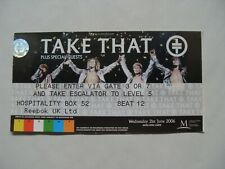 VERY RARE - TAKE THAT - CONCERT TICKET - CARDIFF 2006