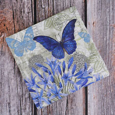 20x Napkins paper Decoupage Tissue Purple Flowers Butterfly wedding birthday *ss