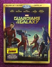 Guardians of the Galaxy 3D (Blu-ray 3D/Blu-ray/Digital HD, 2014) NEW w/Slipcover