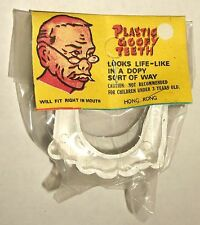 vintage Vampire Teeth Sealed w/ Header Card Hong Kong Novelty Monster Fangs nos