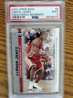 2003 UD LeBron James PSA 9 Phenomenal Beginning Rookie Basketball Card #8