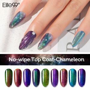 Elite99 Top Coat semi permanent Caméléon de no wipe top coat gel UV LED soakoff