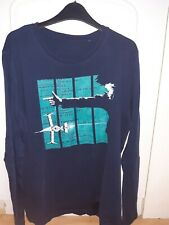 Cowboy Bebop Spike long sleeve navy t-shirt M