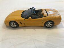 Burago 1:24 1997 Yellow/Gray DieCast Corvette Convertible Made in Italy