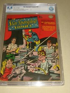 STAR SPANGLED COMICS #37 (DC GOLDEN AGE 1944) NEWSBOY LEGION WWII CBCS 5.5