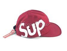 New w/ tags Supreme Sup Camp Cap Red 5 Panel Box Logo Hat FW 2013 Unworn Rare