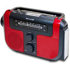 WeatherX AM/FM w/ Flashlight Rechargable batteries hand crank solar WR383R
