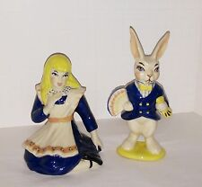 Alice In Wonderland and White Rabbit set Ceramic Arts pottery ceramics mint