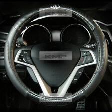 380mm Real Carbon Steering Wheel Cover Black for HYUNDAI 2009-2016 Genesis Sedan