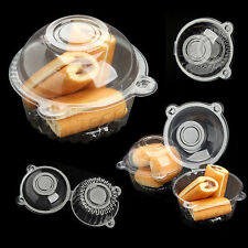 Cute 100 pcs Individual Clear Plastic Single Cup Cake Muffin Case Pods Domes Box