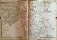 1909 G.W. Bromley Jamaica Queens Long Island Rail Road Station Ny Atlas Map