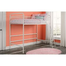 Bunk Bed Frame For Kids Loft Teens Metal Twin Size Stairs Girls Boys Bedroom Set