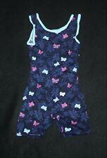 Girl Blue Sparkle Butterfly Jacques Moret Biketard Dance Gymnastics Size XS 4/5
