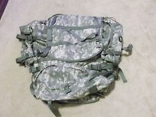 US ARMY MOLLE II ACU LARGE RUCKSACK BACK PACK W/FRAME, SUSTAINMENT POUCHES,BELT