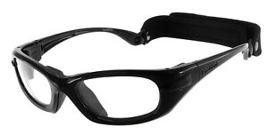 Progear Sportbrille Schutzbrille schwarz Brille aus Polycarbonat + Sehstärke Neu