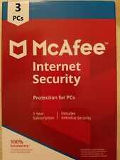 NEW!!! McAfee Internet Security 2020 3 PCs 1 Year