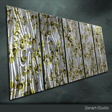 Modern Original Metal Wall Art Abstract Shining Indoor Outdoor Decor by Zenart