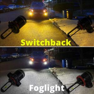 2-Color LED Fog Light Bulb,White Yellow Switchback,2504,5202,9006,H7,H10,H11,H16