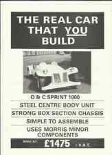 O AND C SPRINT 1000 KIT CAR SALES 'BROCHURE'/SHEET 1980's ??