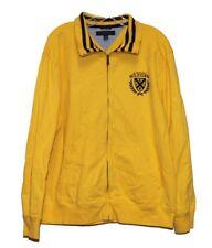 Tommy Hilfiger Men's Yellow/Black Casual Zipper Jacket Sz L Spellout