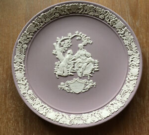 Wedgwood Jasperware Valentine's Day Limited Edition Plate-Lilac-1982 New in Box!