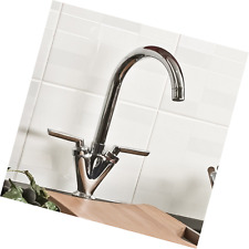 ATORRE® Modern Dual Lever Chrome Kitchen Sink Bathroom Basin Mixer Tap