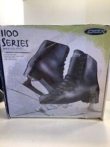 Ice Skates DBX Motion Figure Skating 1100 Series Black Leather mens Size 10, New