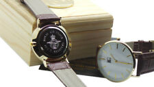 RAF PERSONALISED WATCH Engraved 24k Gold Luxury Air Force Wristwatch Leather