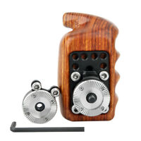 US NICEYRIG Wooden Handle Grip ARRI Set Rosette Mount  for Sony Nikon Canon Cage