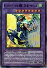 Yu-Gi-Oh! LCGX-DE048 Elementar-HELD Tempest Super Rare in Movie-Sleeve neu