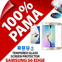 Pama Tempered Glass Screen Protector Guard Film for Samsung Galaxy S6 Edge Gold