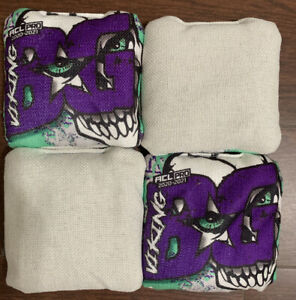 BG Vikings cornhole bags - ACL Stamp. Limited edition Brand New
