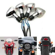 4x Motorcycle Amber Turn Signals For Yamaha V-Star XVS 650 1100 Custom Silverado
