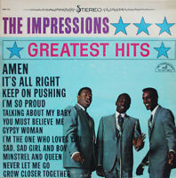 LP Vinyl Records The Impressions – Greatest Hits