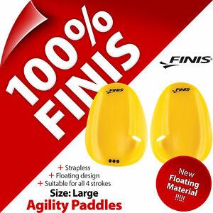 Finis Agility Paddles Floating Size L Large Swimming Swim Training Aid Strapless